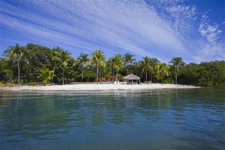The Berry family also built a sandy beach on the island