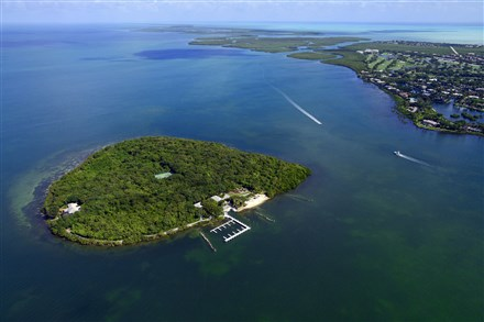 Pumpkin Key, a private island in the Florida Keys