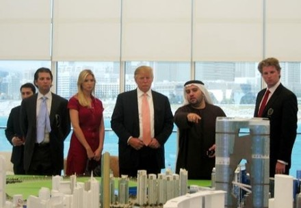 ... projects at Reem Island to Donald, Ivanka and Donald Trump Jr