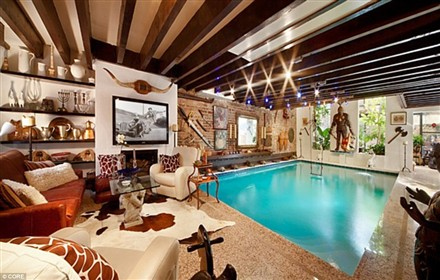 swimming pool living room