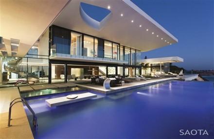 Sow house Dakar Senegal pool