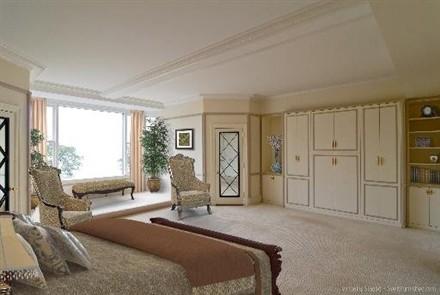 Oprah Winfrey Chicago Apartment bedroom