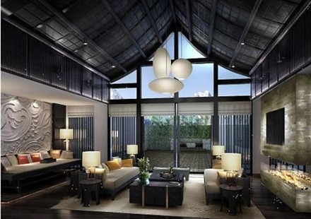 Banyan Tree Lijiang luxushotel in china bar design