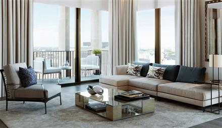 Kings Gate London SW1 living room