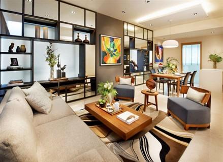 Living room at Shelford Suites