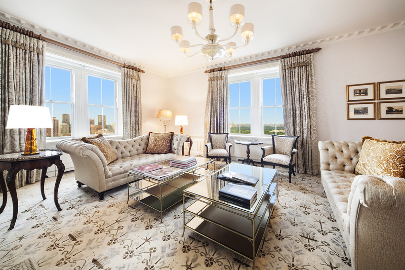 Most expensive rental in New York rented for $500000 at Pierre Hotel