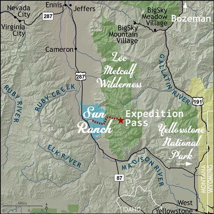 sun ranch map