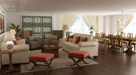 Raffles Makati Hotel and Residence living room