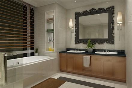 Raffles Makati Hotel and Residence washroom