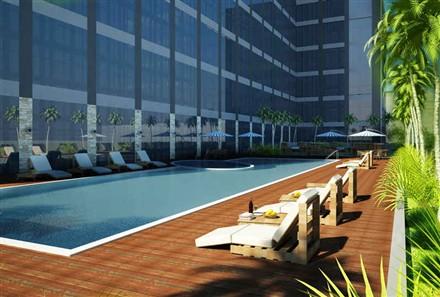 Raffles Makati Hotel and Residence swimming pool