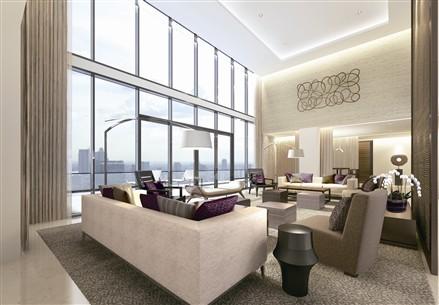 Duplex Penthouse Living Room