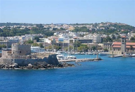 greece rhodes harbor