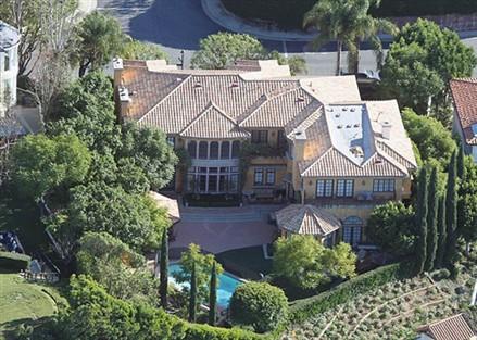 Charlie Sheen mansion Mulholland Estates Beverly Hills