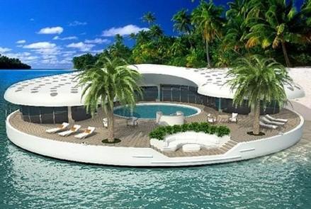 Dubai floating island