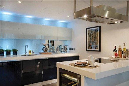 White Kitchen Feature Wall contemporary white kitchen feature wall interior design follow us