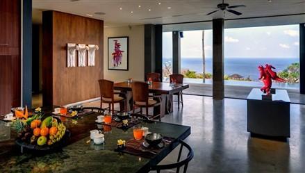 Dining sea views