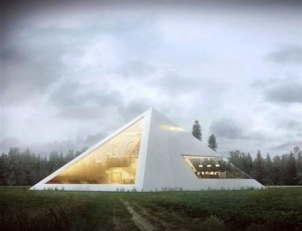 出自胡安•卡洛斯•拉莫斯的现代金字塔房屋