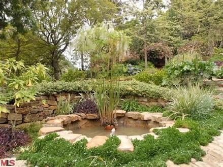 Halle Berry Beverly Hills garden