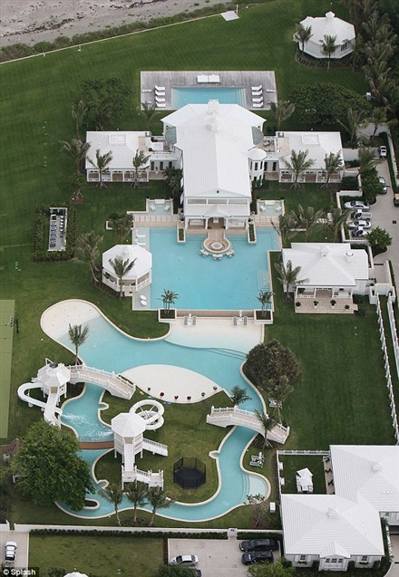 Celine Dion waterpark mansion
