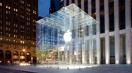 Steve Jobs Apple Store Cube New York